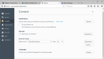 Waterfox  screenshot 7
