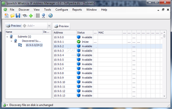 WhatsUp IP Address Manager screenshot
