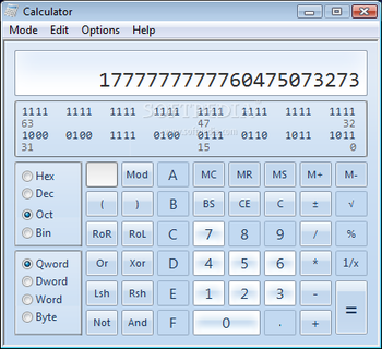 Windows7 Calculator screenshot 3