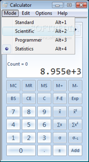Windows7 Calculator screenshot 5