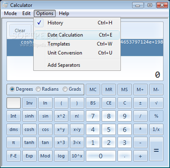 Windows7 Calculator screenshot 7