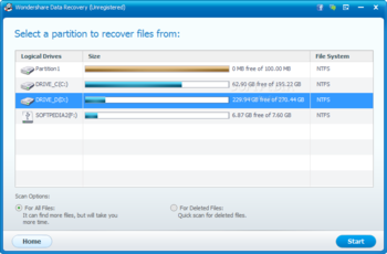 Wondershare Data Recovery screenshot 5