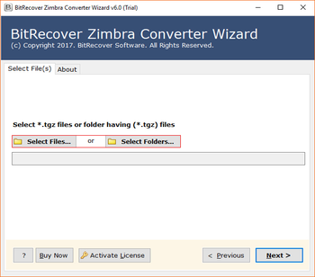 Zimbra Converter Wizard screenshot 2