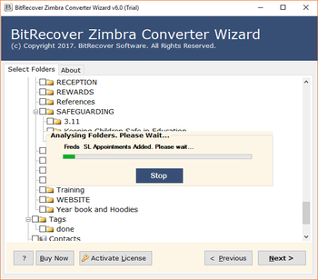 Zimbra Converter Wizard screenshot 3