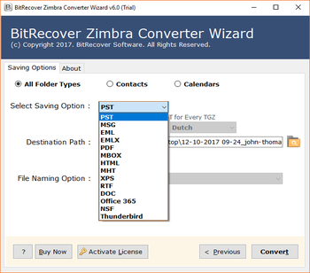 Zimbra Converter Wizard screenshot 4
