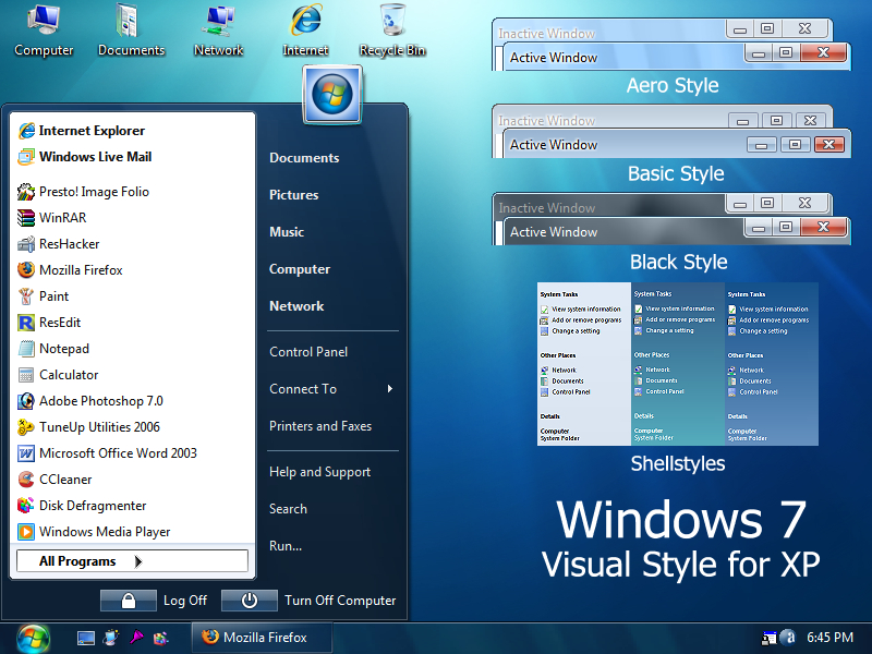 Windows 7 RC1 Theme for Windows XP