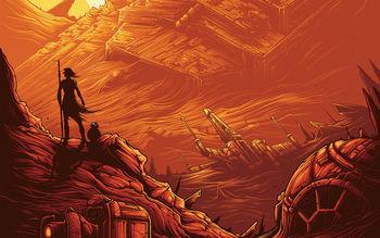 Rey Bb 8 Star Wars Wallpaper Free Wallpapers