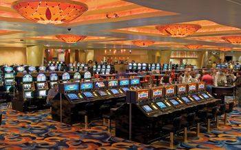 Room In Casino With Slot Machines wallpaper preview
