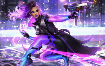 Sombra Artwork Overwatch screenshot